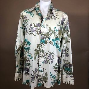Vintage 60s King's Road Asian Inspired Button Up